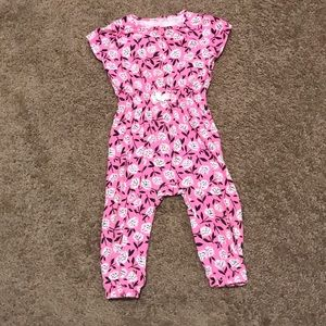 Cat & Jack toddler girl floral jumpsuit/romper